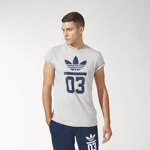 adidas - Men's 3-Stripes Trefoil Tee Medium Grey Heather M30251