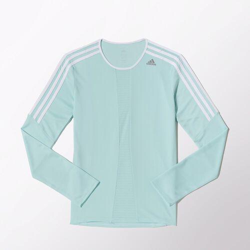 adidas - Women's Response Long Sleeve Tee Frost Mint / White M62530