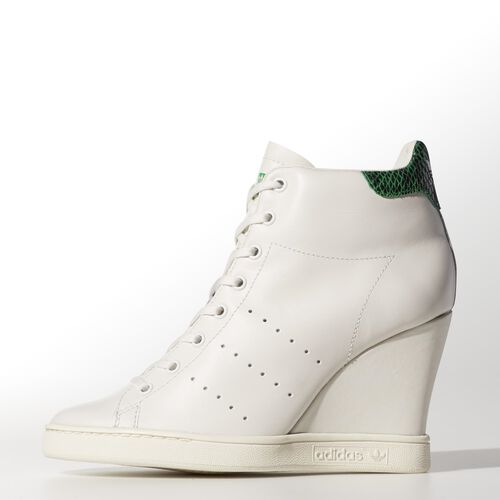 adidas - Women's Stan Smith UP Shoes White Vapour / White Vapour / Fairway D65175