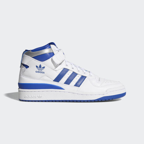adidas - Hommes Forum Mid Refined Shoes White/Collegiate Royal/Silver Met. F37830