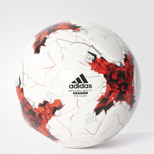 adidas - PELOTA DE FÚTBOL CONFEDERATION TOP White/Red/Power Red/Clear Grey AZ3204