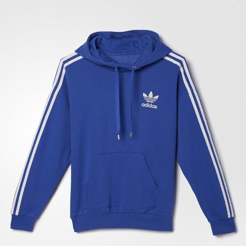 adidas - Women's 3-Stripes Hoodie Bold Blue AB2220