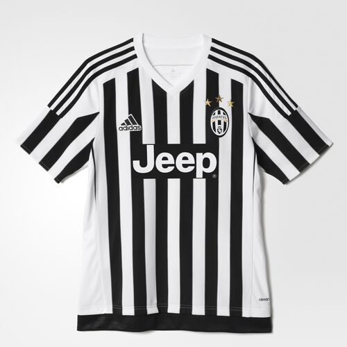 adidas - Youth Juventus FC Home Replica Player Jersey White/Black S12867