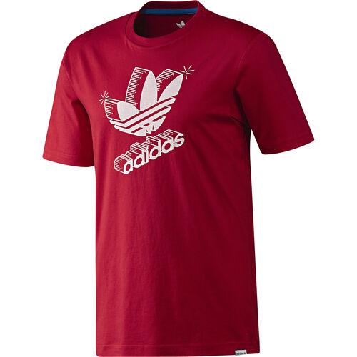 adidas - Men's 3D Retro Logo Tee University Red G92941