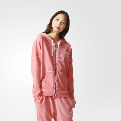 adidas - Femmes Premium Essentials Washed Hoodie Peach Pink AB2148