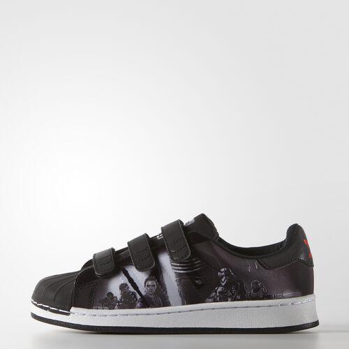 adidas - Enfants Star Wars Superstar Modern Shoes Core Black / Translucent / Hi-Res Red S74720