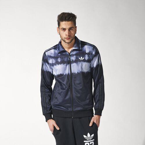 adidas - Hommes Slim Firebird Tie-Dye Track Jacket Black S18693