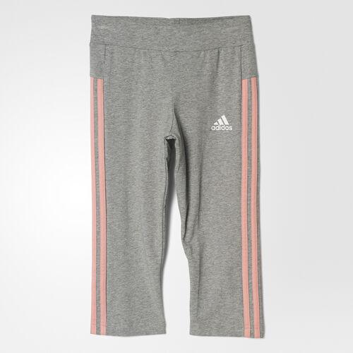 adidas - Mallas Essentials Linear 3/4 Medium Grey Heather/Still Breeze BP8626