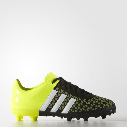 adidas - Enfants Ace 15.3 Firm/Artificial Ground Cleats Core Black/White/Solar Yellow B32842