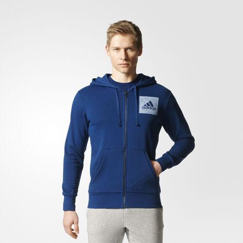 adidas - Saco con Gorro Sport ID Mystery Blue /Tactile Blue S98793
