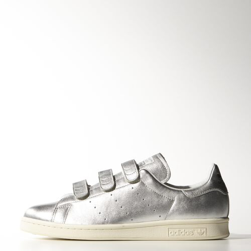 adidas - Men's Nigo Stan Smith Shoes Silver Met. / Silver Met. / Core Black B26561