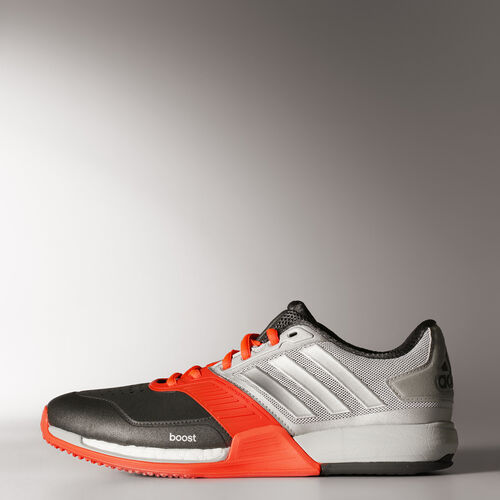 adidas - Hommes Crazy Train Boost Shoes Silver Met./Silver Met./Solar Red B26637