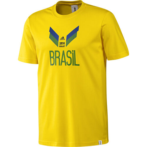 adidas - Men's Brazil Tee Vivid Yellow F39492