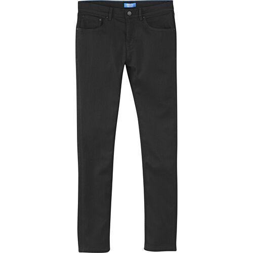 adidas - Men's Skinny-Fit Denim Jeans Black Denim F78535