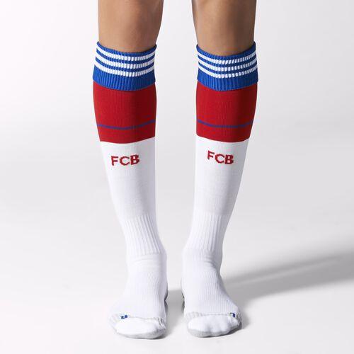 adidas - Hommes FC Bayern Munchen Home Socks White / Fcb True Red / Collegiate Royal F48533