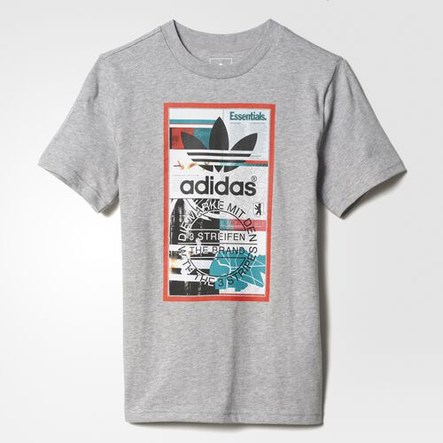 adidas - J GRAPHIC TEE Medium Grey Heather BK6220
