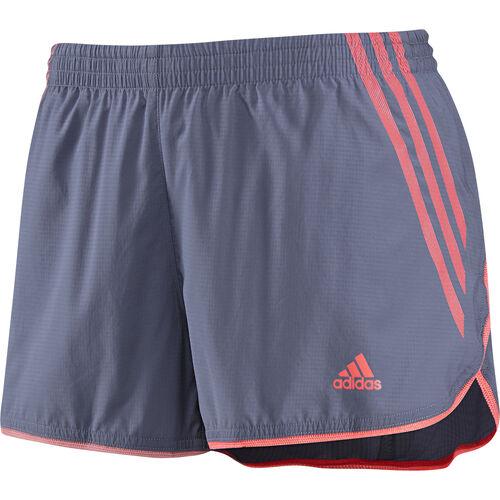 adidas - Women's Adizero Split Shorts Shade Grey / Red Zest G78962