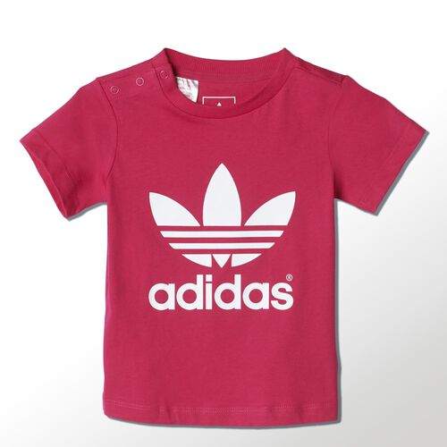 adidas - Bebes Trefoil Tee Bold Pink / White S14333