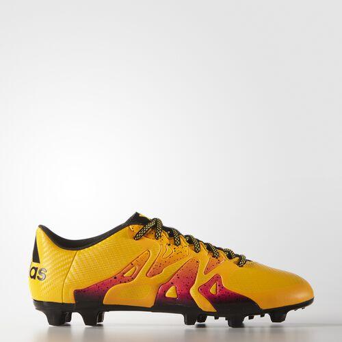 adidas - Botines de fútbol X 15.3 Suelo Firme Solar Gold/Core Black/Shock Pink S74632