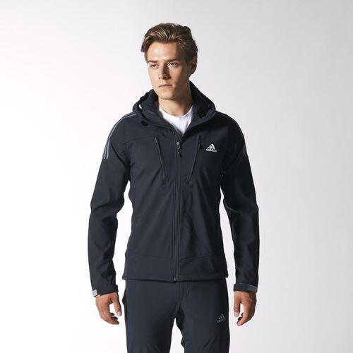 adidas - Hommes Terrex Swift Soft Shell Hoodie Black / Clear Grey W49358