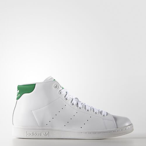 adidas - Men's Stan Smith Mid Shoes White/Green S75028