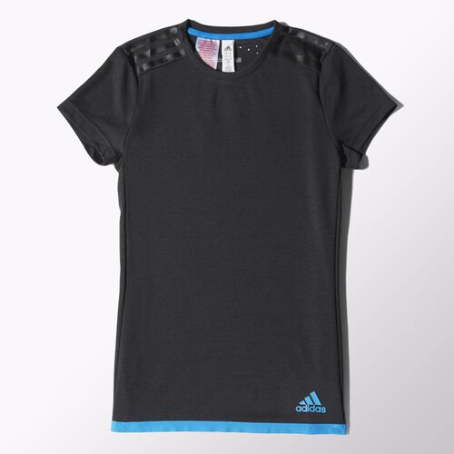 adidas - Kids Uncontrol Climachill Tee Chill Black Mel / Chill Blue S86751