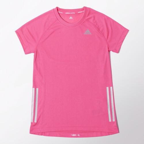adidas - Enfants Running Girls Tee Solar Pink / Reflective Silver / Reflective Silver M66890
