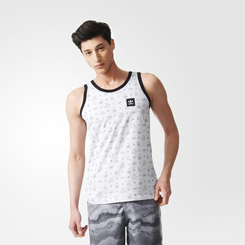 adidas - Hommes Salty Plaza Tank Top White / Grey S24757