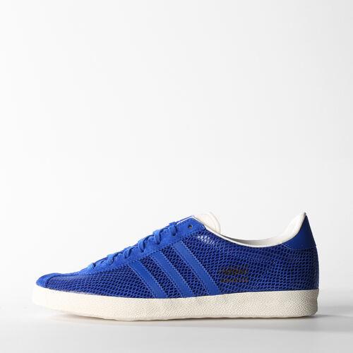adidas - Women's Gazelle OG Shoes Power Blue / Power Blue / Gold Metallic M25494