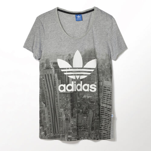 adidas - Women's City Print Tee Medium Grey Heather M69816