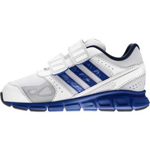 adidas - Enfants Hyperfast Shoes Running White / Blue Beauty / Metallic Silver D65738