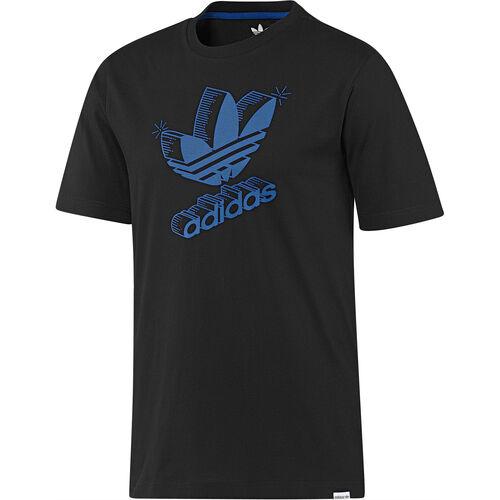 adidas - Men's 3D Retro Logo Tee Black G92939