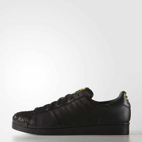 adidas - Hommes Zaha Hadid Supershell Superstar Shoes Core Black / Core Black / Yellow S75388