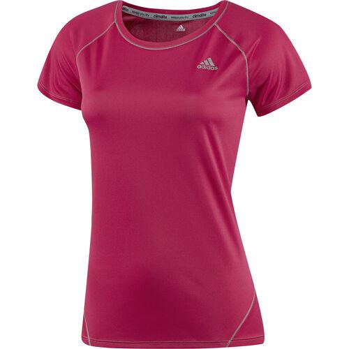 adidas - Women's Sequencials Run Short Sleeve Tee Vivid Berry D85804