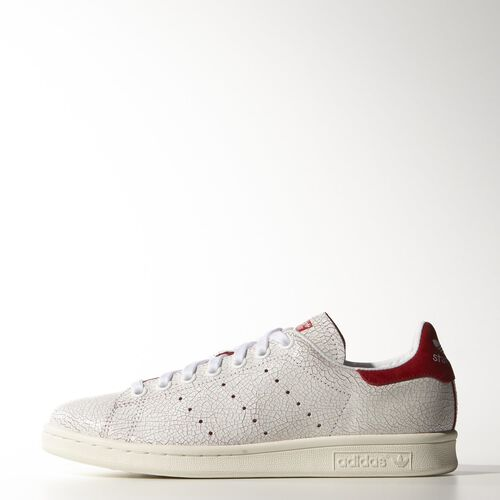 adidas - Femmes Stan Smith Shoes Ftwr White / Ftwr White / Collegiate Red M19586