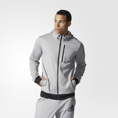 adidas - Men's adidas Infinite Series Daybreaker Hoodie Medium Grey Heather AC2147