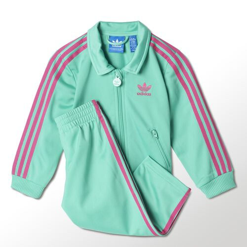 adidas - Infants Firebird Track Suit Solo Mint / Pink M63337