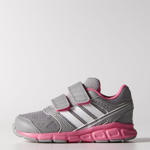 adidas - Infants Hyperfast Shoes Light Onix / Core White / Solar Pink M20338