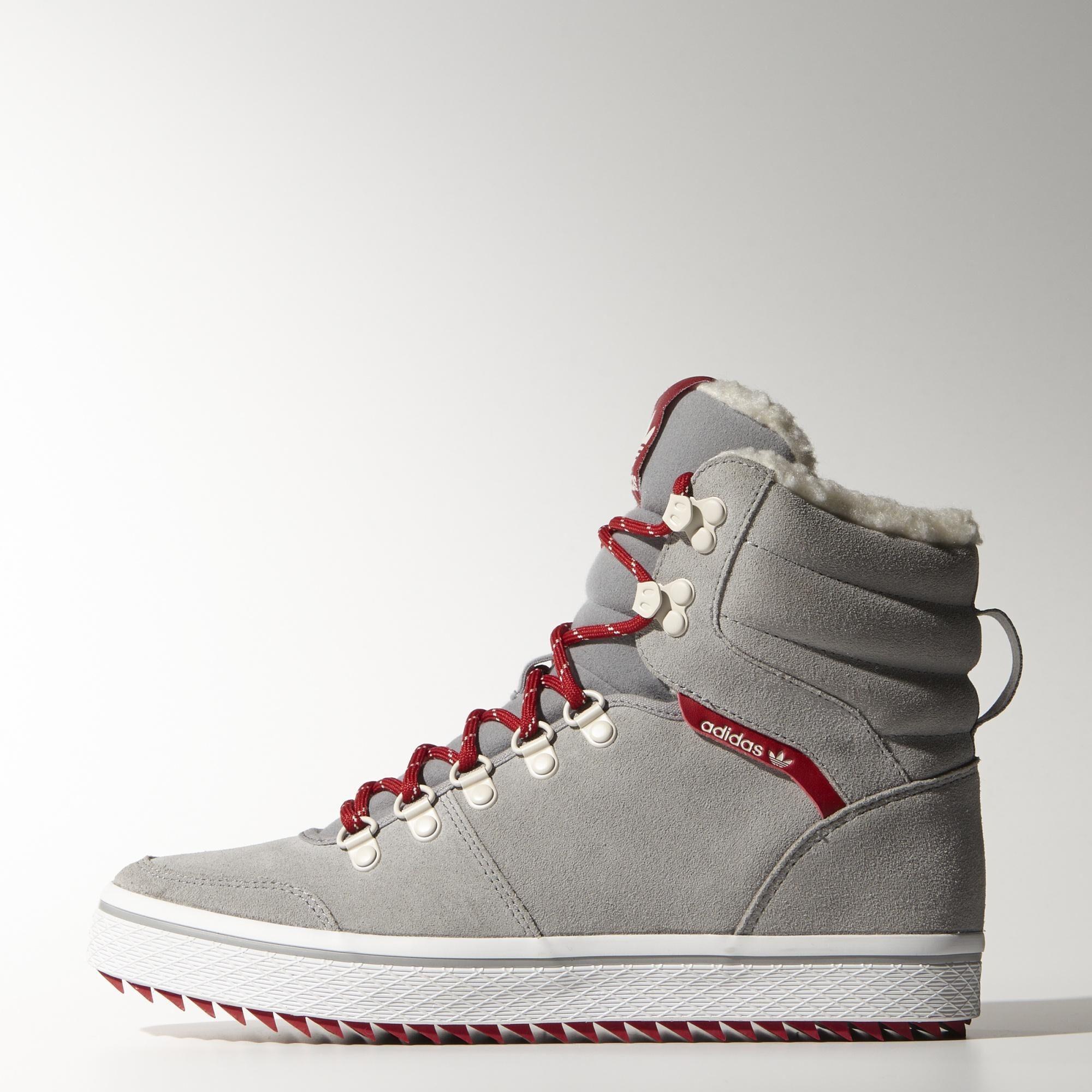 adidas , Zapatillas Honey Hill Caña Alta Mujer Light Onix / Power Red / White M20763