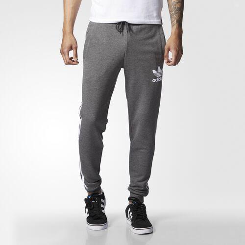 adidas - Men's CLFN Cuffed Track Pants Dark Grey Heather AY7782
