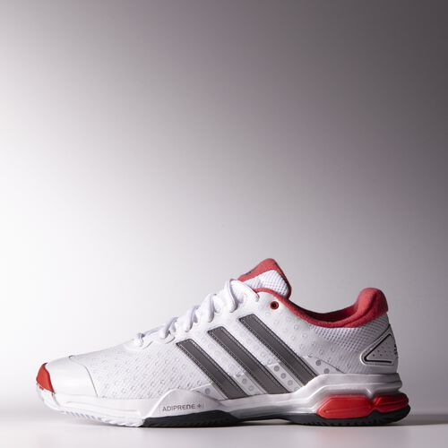 adidas - Hommes Barricade Team 4 All Court Shoes Ftwr White / Iron Met. / Bright Red M21706
