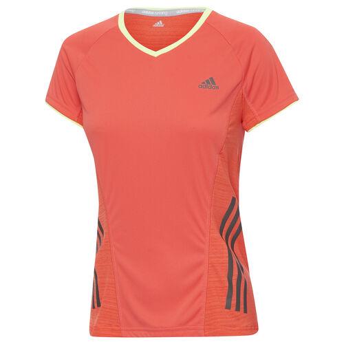 adidas - Women's Supernova Short Sleeve Tee Bahia Coral / Glow F82654
