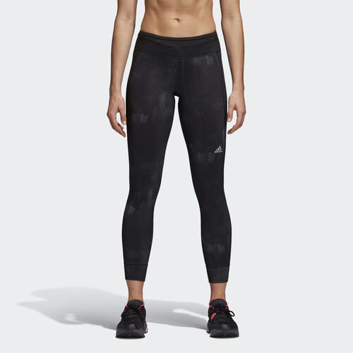 adidas - Women's Response Graphic Climawarm Tights Black AX6004
