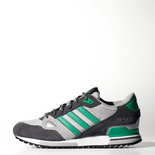 adidas - Men's ZX 750 Shoes Dgh Solid Grey/Green/Mgh Solid Grey B39987