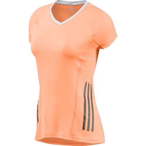 adidas - Women's Supernova Short Sleeve Tee Glow Orange / Clear Grey F82631