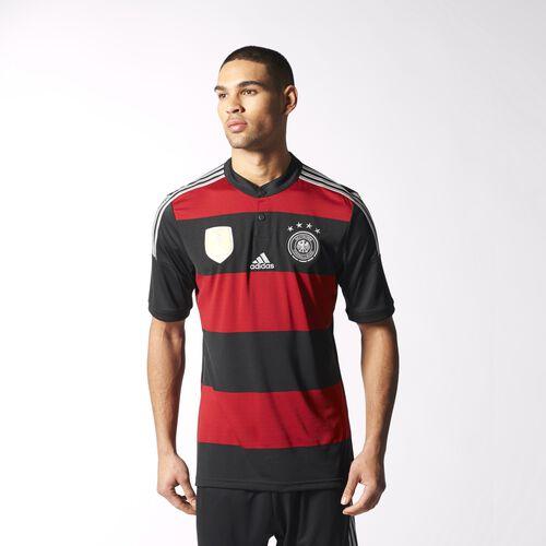 adidas - Men's Germany Winner's Away Replica Player Jersey Black / Flash Orange / Black M35024