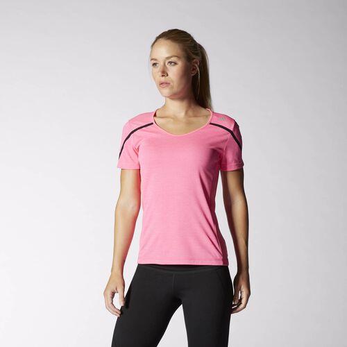 adidas - Women's adizero Boston Tee Solar Pink / Black M34368