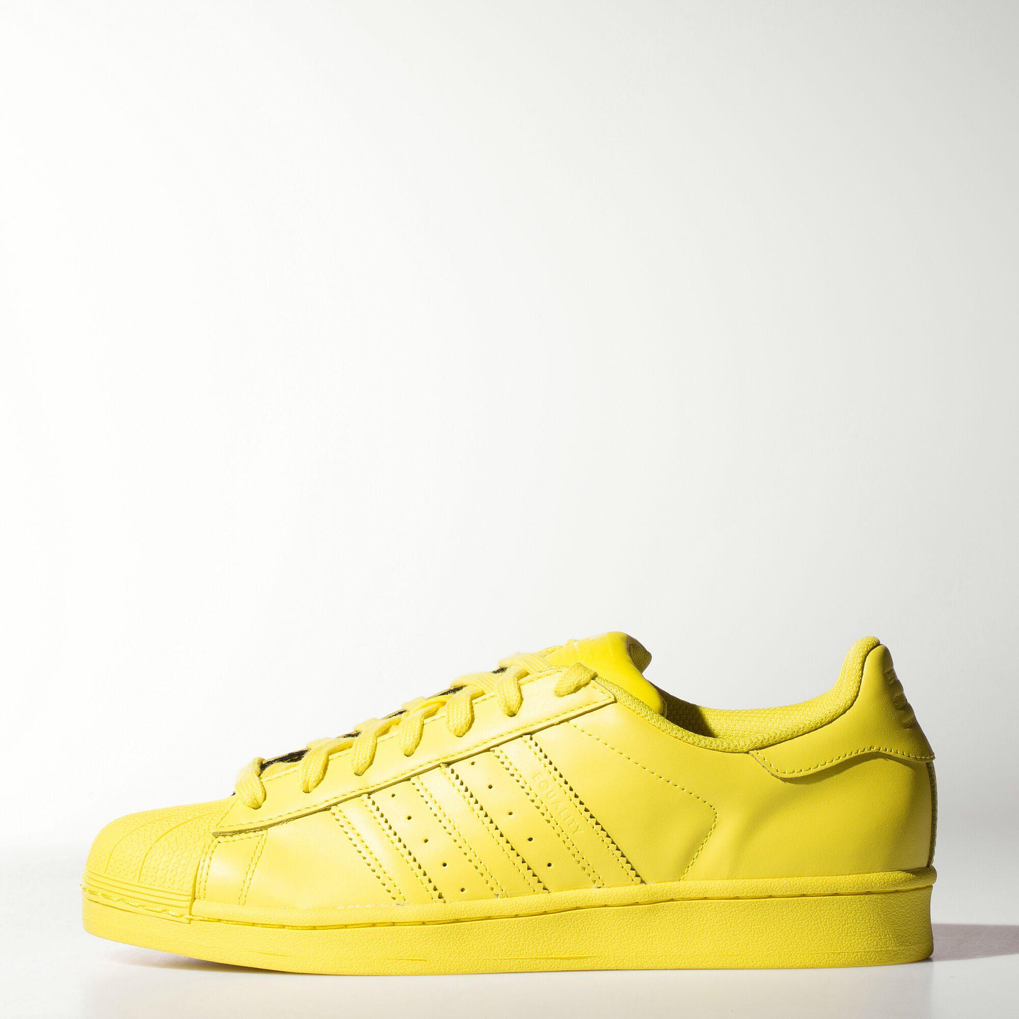 zapatillas adidas superstar hombre amarillas