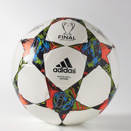 adidas - Finale Berlin Capitano Ball White / Solar Blue2 / Flash Green M36921