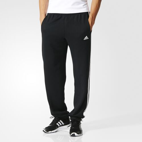 adidas - Essentials 3-Stripes Pants Black  /  White AA1674